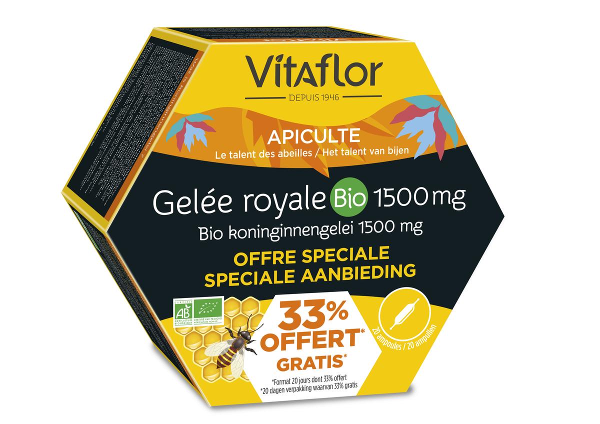 Vitaflor Gelee Royale Bio 1500mg + 33% Gratuit
