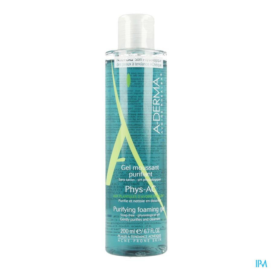 Aderma Phys-ac Gel Moussant Purifiant 200ml