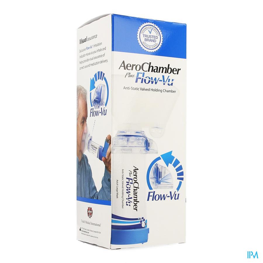 Aerochamber Plus A/static+flow-vu-mask Adult