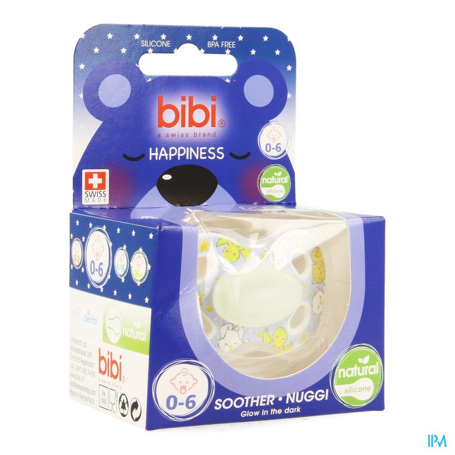 Bibi Sucette Hp Natural 4 Friends Glow Dark 0-6m