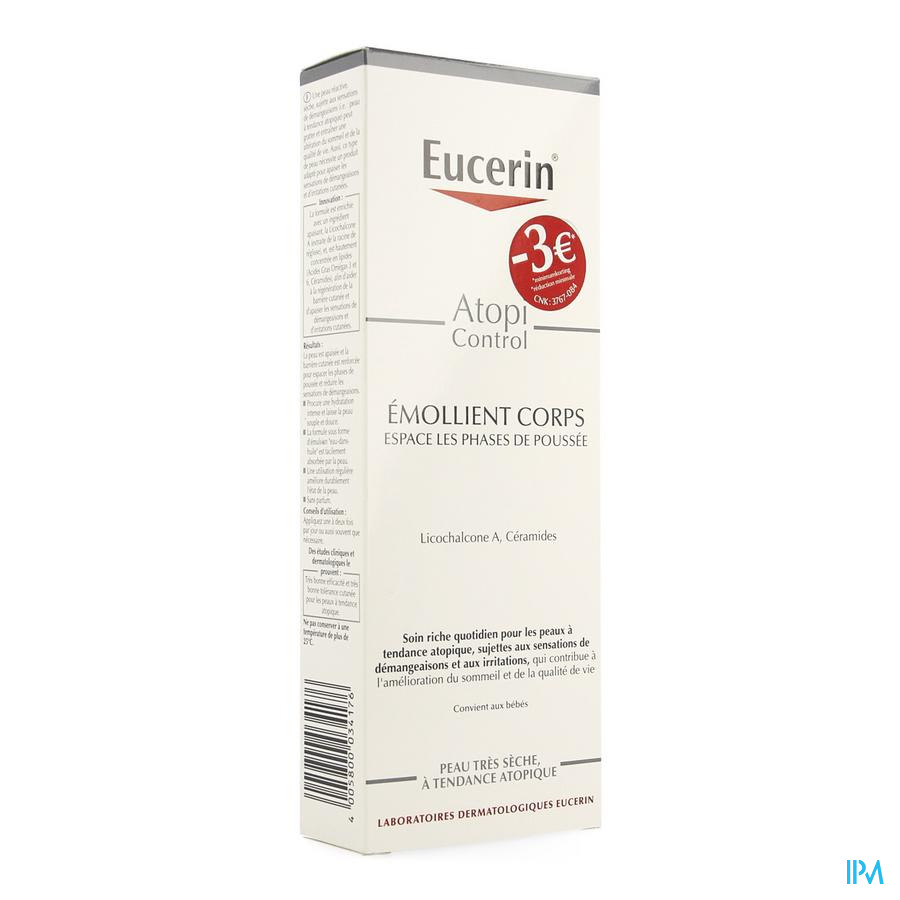 Eucerin Atopicontrol Lotion Corps 250ml Promo -3€