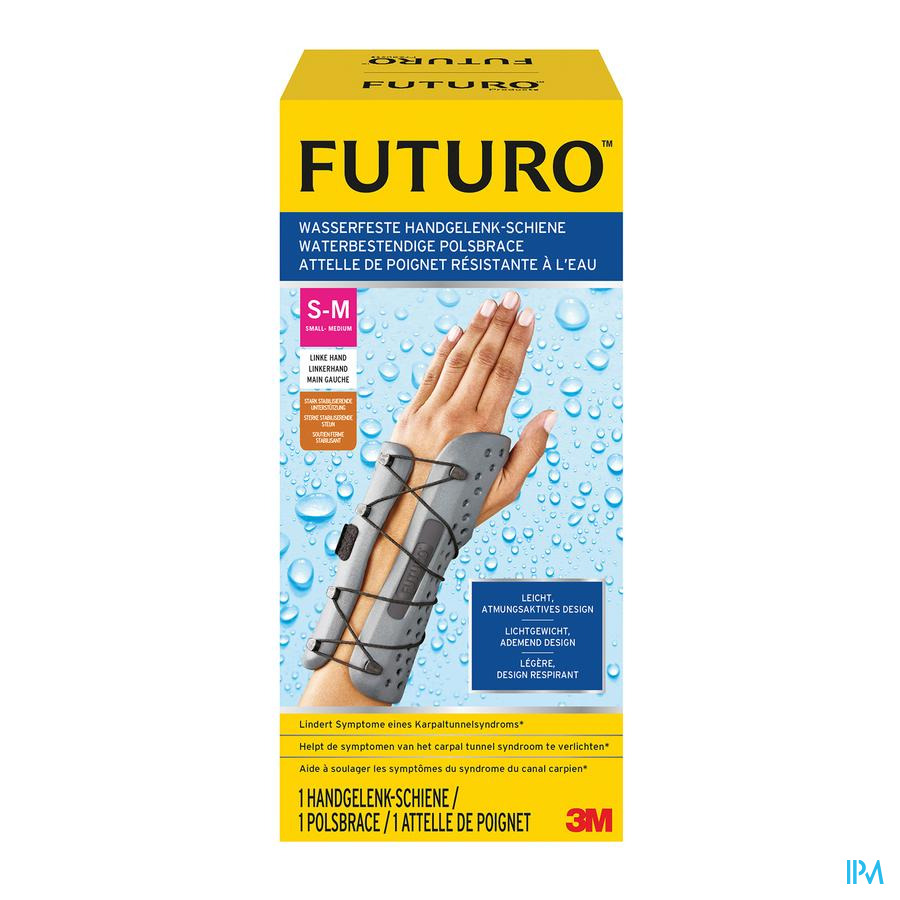Futuro Attelle Poignet Resist. l'eau Gauche S-m