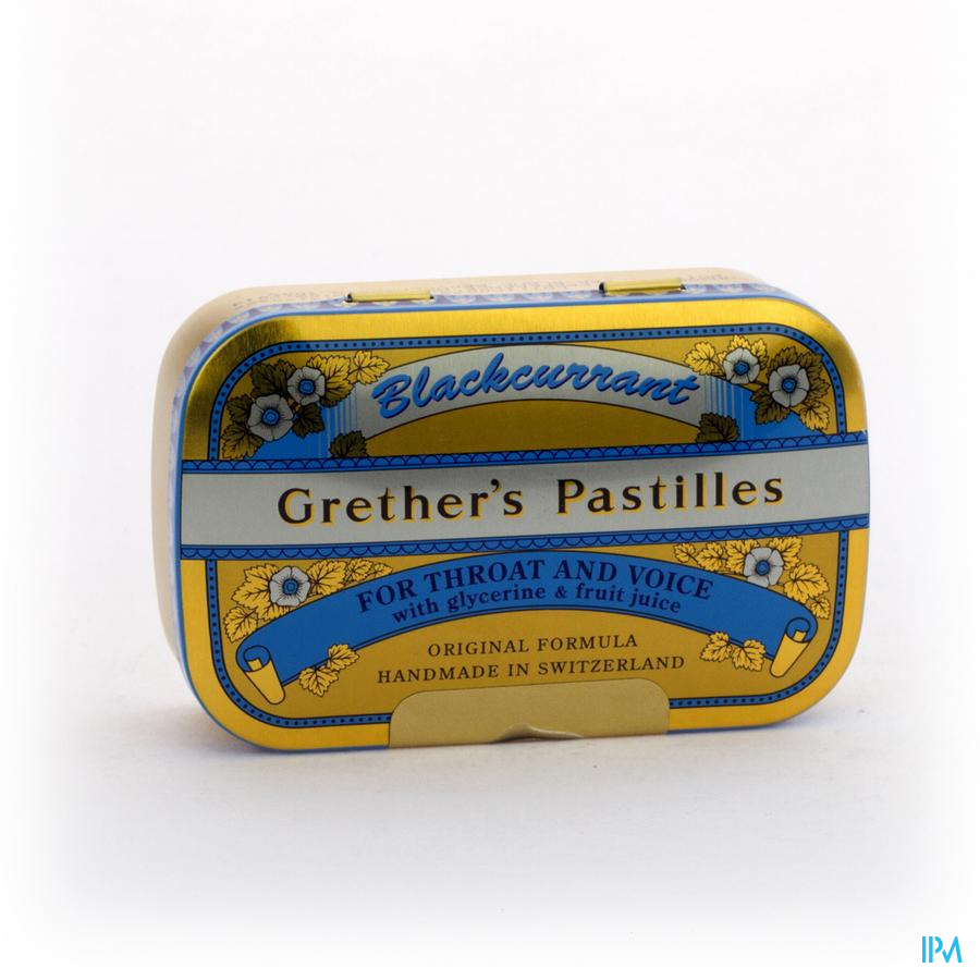 Grether's Pastilles Blackcurrant Past 110g