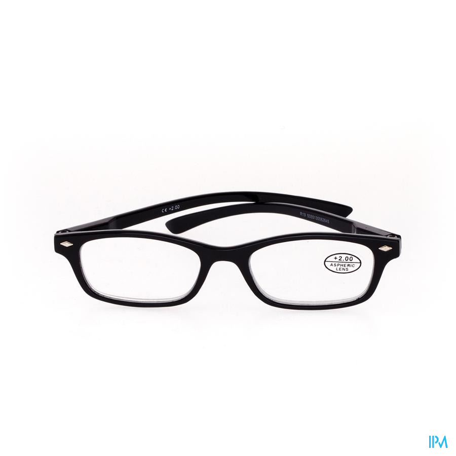 Pharmaglasses Lunettes Lecture Diop.+2.00 Black