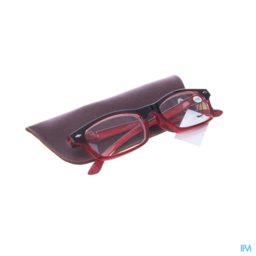 Pharmaglasses Lunettes Lecture Diop.+4.00 Red