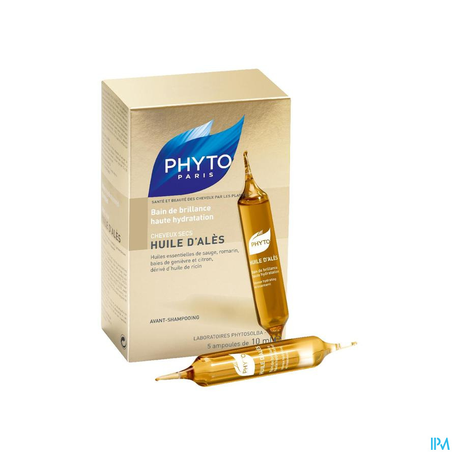 Phyto Huile D' Ales Cheveux Secs Amp 5x10ml