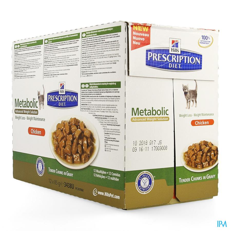 Prescription Diet Feline Metabolic Pouch 12 X 85g