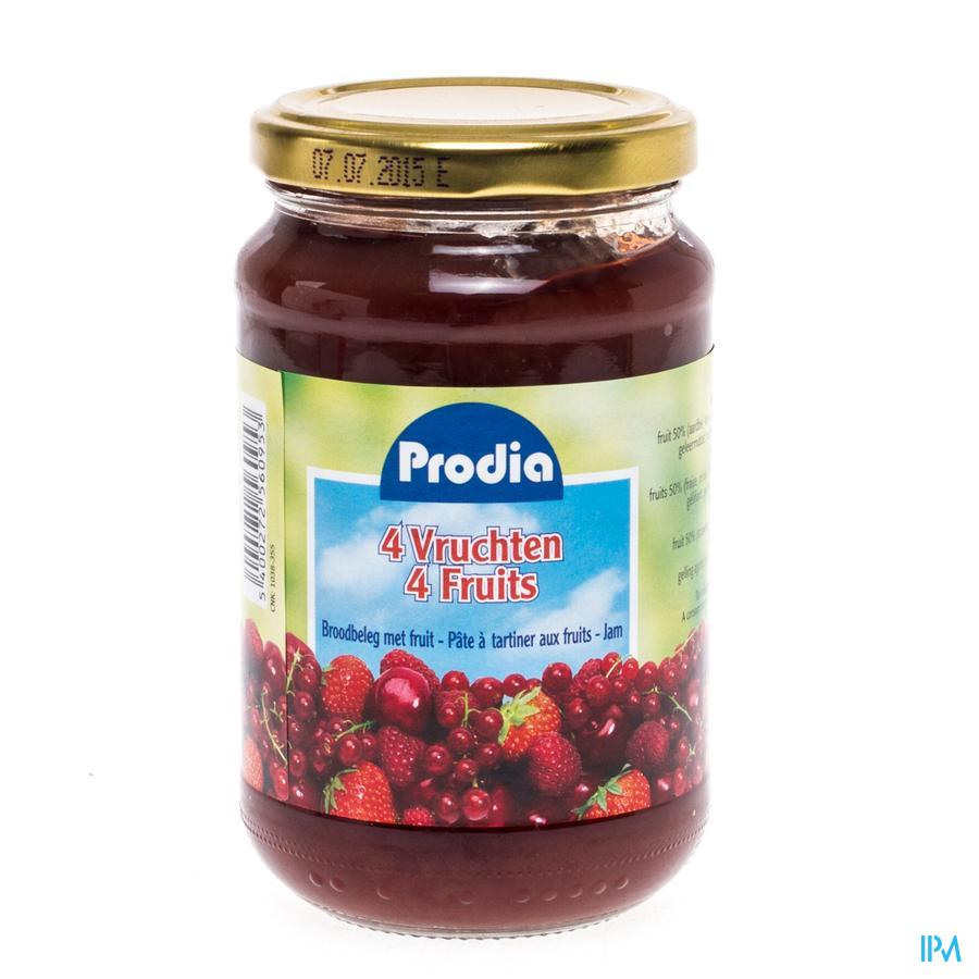 Prodia Confiture 4 Fruits + Fructose 370g 6095