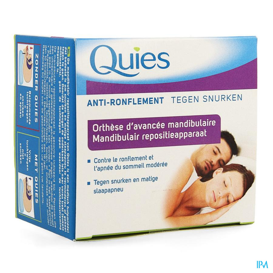 Quies Orthese Mandibulaire A/ronflement Apnee