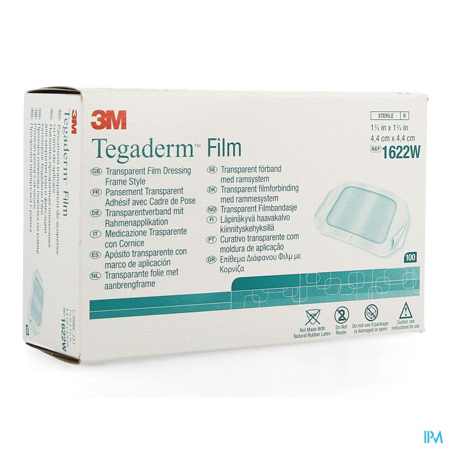 Tegaderm 3m Transp 4x 4cm 100 1622w