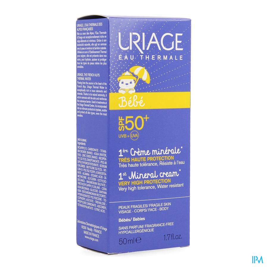 Uriage 1ere Creme Minerale Ip50+ 50ml